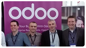 Rack-oon team on Open Days of Odoo