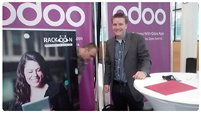 set up Rack-oon stand on Open Days of Odoo